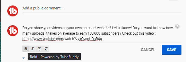 tubebuddy-comment-formatting4
