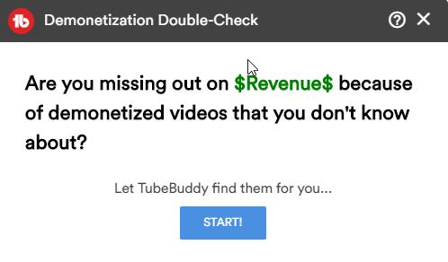 tubebuddy-demonetization-double-check